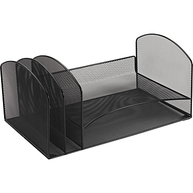 Staples Black Wire Mesh Letter Tray Sorter