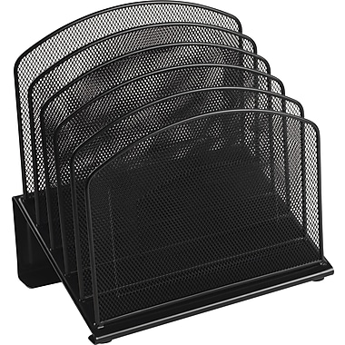 Staples® Black Wire Mesh 5 Section Incline Sorter