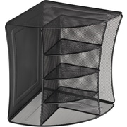 Staples black wire mesh corner organizer staples - Staples corner storage ...