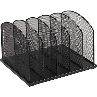 Staples® Black Wire Mesh 5 Slot Vertical Sorter