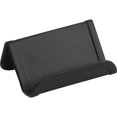 Staples® Brushed Metal Business Card Holder