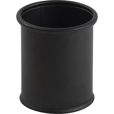 Staples® Brushed Metal Pencil Cup