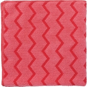 "Rubbermaid® HYGEN™ Microfiber All-Purpose Cleaning Wiping Cloths, Red, 16"", 12/Ct"