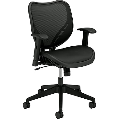 basyx by HON® BSXVL552MST1 VL552 Mesh Office Chair with Adjustable Arms, Black
