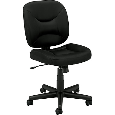 basyx by HON VL210 Fabric Armless Task Chair, Black