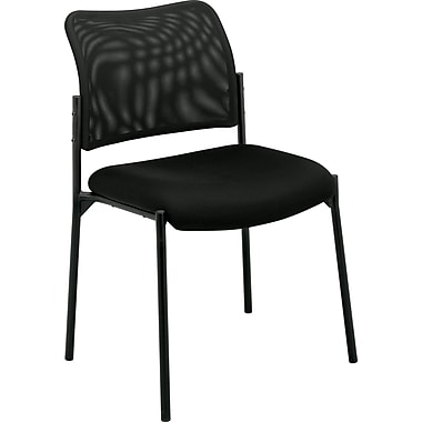 basyx by HON Armless Mesh Stacking Chair, Black