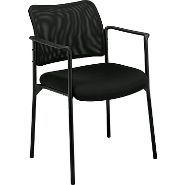 basyx by HON Mesh Stacking Chair, Black