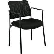 basyx by HON® VL516 Mesh Back Stacking Guest Chair, Black (BSXVL516MM10)