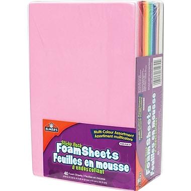 Elmer's® Craft Foam Sheets, Sticky Back, 40/Pack