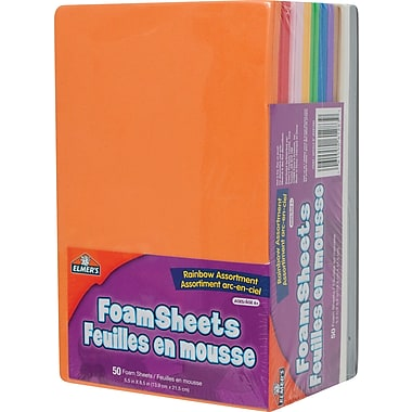 Elmer's® Craft Foam Sheets, 50/Pack