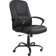 Safco® Serenity™ Big And Tall High Back Genuine Leather Chair, Black