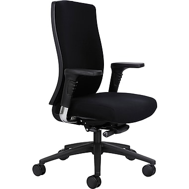 Safco® Bliss™ 7201 High Back Managers Chair, Black