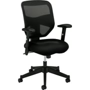 basyx by HON Mesh Computer and Desk Office Chair, Adjustable Arms, Black (HVL531MM10.COM)