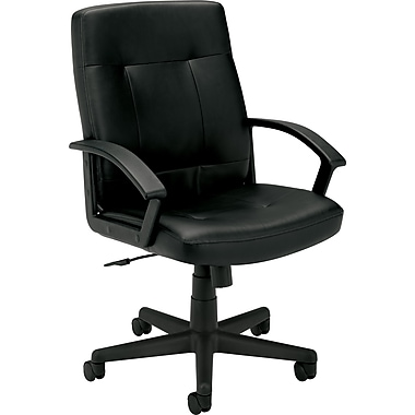 basyx ® VL602 Managerial Chair Genuine Leather Management, Black