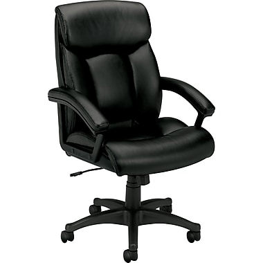 basyx by HON VL151 Leather High-Back Executive Chair, Black