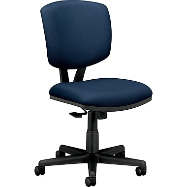 HON® Volt® Mid-Back Armless Fabric Task Chair with Synchro Tilt, Navy