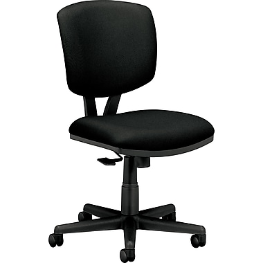 HON® Volt® Mid-Back Armless Fabric Task Chair with Synchro Tilt, Black