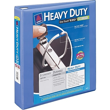 1in. Avery® Heavy-Duty View Binder with One Touch™ EZD® Rings, Periwinkle
