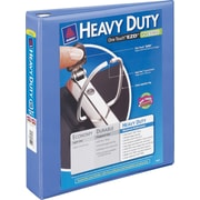 3 Avery® Heavy-Duty View Binder with One Touch™ EZD® Rings, Periwinkle
