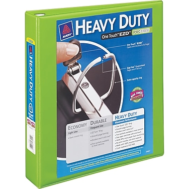 3in. Avery® Heavy-Duty View Binders with One Touch™ EZD® Ring, Chartreuse