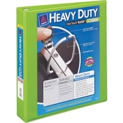 3 Avery® Heavy-Duty View Binders with One Touch™ EZD® Ring, Chartreuse
