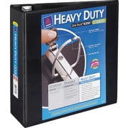 4 Avery® Heavy-Duty View Binder with One Touch™ EZD® Rings, Black