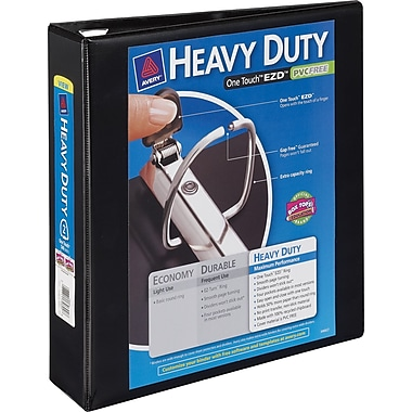 2in. Avery® Heavy-Duty View Binder with One Touch™ EZD® Rings, Black