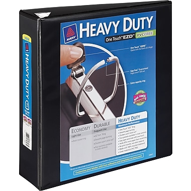 3in. Avery® Heavy-Duty View Binder with One Touch™ EZD® Rings, Black