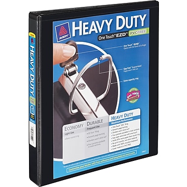 1in. Avery® Heavy-Duty View Binder with One Touch™ EZD® Rings, Black