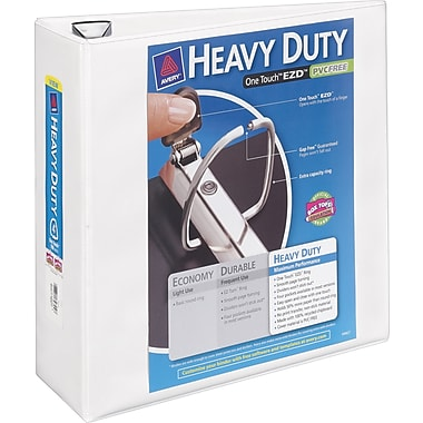 4in. Avery® Heavy-Duty View Binder with One Touch™ EZD® Rings, White