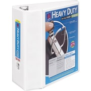 5 Avery® Heavy-Duty View Binder with One Touch™ EZD® Rings, White