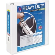 "Avery 2"" Heavy-Duty View Binder with One Touch™ EZD Rings, White"