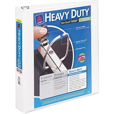 1-1/2in. Avery® Heavy-Duty View Binder with One Touch™ EZD® Rings, White