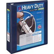 2 Avery® Heavy-Duty View Binder with One Touch™ EZD® Rings, Navy Blue