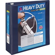 3 Avery® Heavy-Duty View Binder with One Touch™ EZD® Rings, Navy Blue