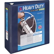 4 Avery® Heavy-Duty View Binder with One Touch™ EZD® Rings, Navy Blue