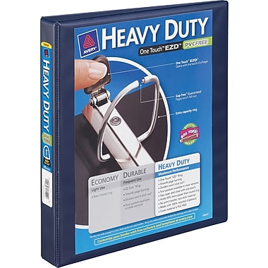 1in. Avery® Heavy-Duty View Binder with One Touch™ EZD® Rings, Navy Blue