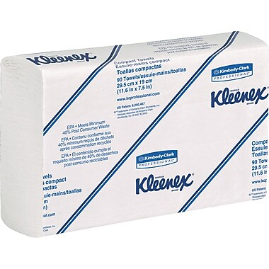 Kleenex® - Recharges d'essuie-tout SLIMFOLD, blanc, bte/24