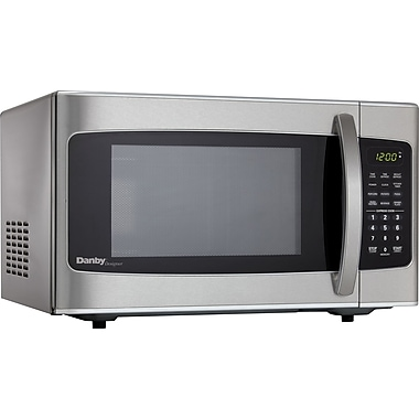 Danby? Microwave Oven, 1.0 cu. ft., Stainless Steel Staples?