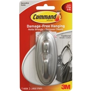 Command™ Large Tradition Hook, Brushed Nickel