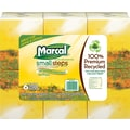 Marcal®  Small Steps® 100% Recycled Facial Tissues, Cube Box, 6/Pack