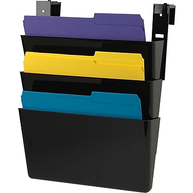 Staples® 3 Pocket Cubicle Wall File, Letter Sized, Black, Each (20219-CC)