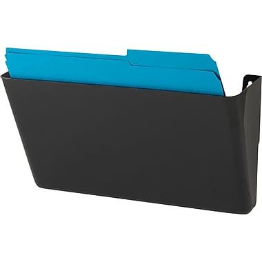 Staples® Single Pocket Black Wall File, Letter-Size