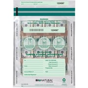 "MMF Industries® Bio-Natrual Tamper-Evident Deposit Bags, Clear 9""x12"""