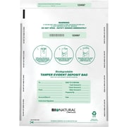 "MMF Industries™ Bio-Natural™ Tamper-Evident Bags, White, 16""H x 12""W"