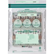 "MMF Industries® Bio-Natrual Tamper-Evident Deposit Bags,  Clear 12""x16"""