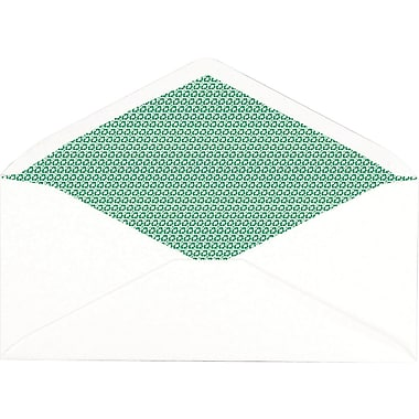 Staples Sustainable Earth Gummed Security Tint 100% Recycled #10 Envelopes, 4-1/8