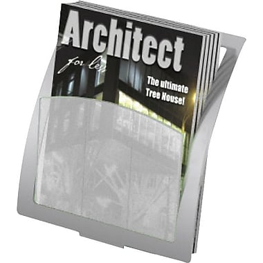 Deflecto Add-on Literature holder, Black, 10 2/5in.H x 11 2/3in.W x 3 1/5in.D