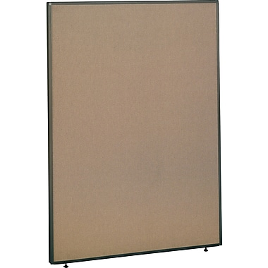 Bush ProPanel,Tan, 48in. Wide Privacy Panel, 67in.H x 48in.W x 1-3/4in.D