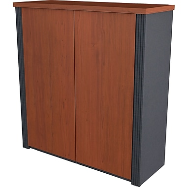 Bestar Prestige+ 2-Door Cabinet for Assembled Lateral, Bordeaux Cherry/Graphite